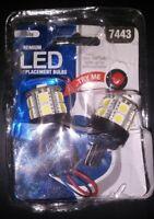 Pilot Automotive 7443 WHITE LED Bulb, 2-Pack IL-7443W-15 12V 3W Bulb (3B)