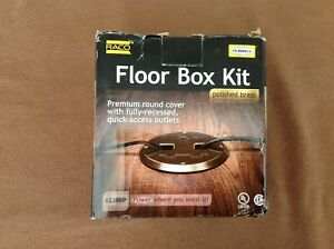 RACO Floor Box Kit Polished Brass 6239BP