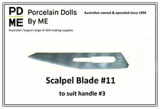 Scalpel Blades #11 (Sealed and Sterile)  - 10 blades  to suit Handle #3