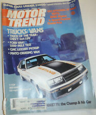 Motor Trend Magazine Gas Rationing? T-Top Mustang January 1979 123014R2
