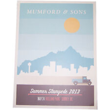 """MUMFORD & SONS SUMMER STAMPEDE 2013 """"MAY 24 SURREY, BC CDN"""" TOUR POSTER NUMBERED"""