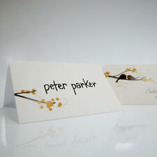 24 Personalized Love Birds Wedding Place Cards