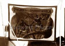 Sideshow Pygmies Darkest Africa Circus Banner Sign Black African Photo 2