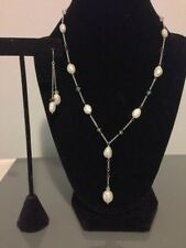 Honora Sterling Silver 6.0-8.0Mm Oval Set Necklace And Earrings