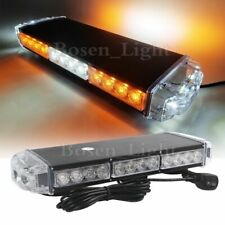 "16"" 30 LED Amber&White Warning Emergency Beacon Strobe Hazard Roof Mini Lightbar"