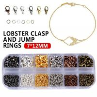 972PCS Jewelry Making Lobster Clasp Hooks 12x7mm For Necklace Bracelet Chain DIY