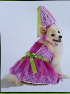 FROU FROU Pink Princess Dress w/ Hat Halloween Dog Costume NWT PET Sz L