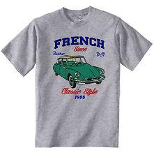 VINTAGE FRENCH CAR CITROEN DS1 - NEW COTTON T-SHIRT