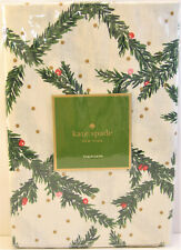 Kate Spade Cotton Tablecloth Holiday Christmas Pine Needles Green Red 70 Round