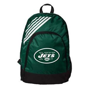 New York Jets BackPack Back Pack Book Sports Gym School Bag Border Stripe
