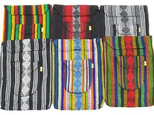 Ethnic Hippie Rasta Stripes Shoulder Bag Crossbody Beach Purse Made in Mexico