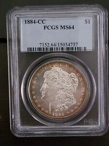 1884-CC PCGS MS 64 Silver Morgan Dollar