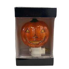 Night Light Kohl's Halloween Jack-O-Lantern Pumpkin With 7-Watt Bulb NIB