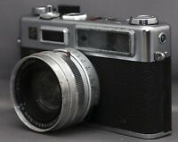 YASHICA G ELECTRO 35 Vintage Film Camera YASHINON f/1.7 45mm Lens Japan CLEAN