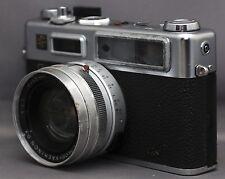 YASHICA G ELECTRO 35 Vintage Film Camera YASHINON f/1.7 45mm Lens Japan CLEAN