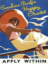 TRAVEL CANADIAN PACIFIC HAPPY CRUISES OCEAN SEA GULL SUN CANADA POSTER 2334PYLV