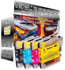 4 Patronen XXL für Brother LC1100 DCP-185C DCP-385C DCP-395CN MFC-490CW 795CW