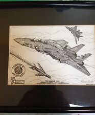 """Robert L. Conley Hand Signed  Print """"The Deadly Duo"""" Black/White Pen/Ink"""