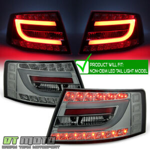 Smoked 2005-2008 Audi A6 S6 C6 Lumileds LED Tail Lights Lamps Left+Right