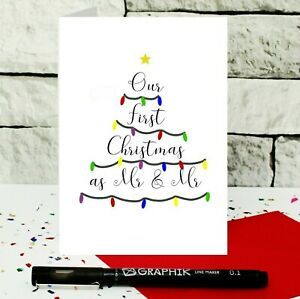 First Christmas as Mr and Mr card - card for husband - newlywed gay couple card
