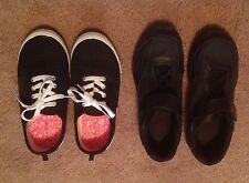 GIRLS 2 PAIRS TENNIS SHOES SNEAKERS SIZE 3 3 1/2 FADED GLORY SMARTFIT SUPER NICE