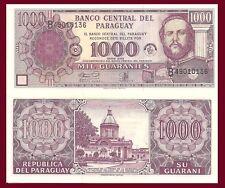 Paraguay P221, 1000 Guarani,50 Anniv. Bank, national shrine / Mariscal Lopez UNC