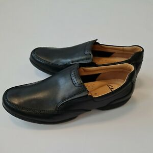 RECLINE FREE  CLARKS LEATHER LOAFER SMART CASUAL COMFORT SLIP ON SHOES SIZE 8 H