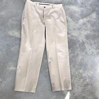 Brooks Brothers Advantage Chino Clark Mens Khaki Khakis Pants (BX J) SZ 36 x 30