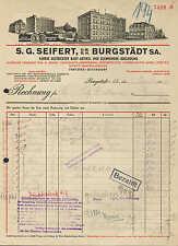 BURGSTÄDT, Rechnung 1942, Fabrik gestrickter Baby-Artikel S. G. Seifert G.m.b.H.