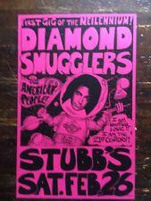 Diamond Smugglers w/ American People poster Stubbs Austin TX Davy Jones 2000