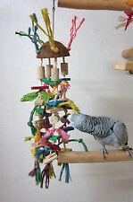 Papageienspielzeug COCONUT CHAOS, reine Naturmaterialien, ca. 60 cm, mit Klingel