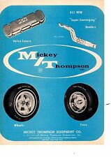1968 MICKEY THOMPSON TIRES / WHEELS / VALVE COVERS  ~   ORIGINAL PRINT AD