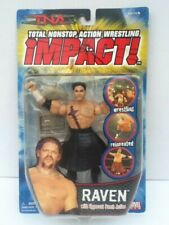 2005 Marvel TNA Impact Raven Wrestling Figure with Chair & Upper Cut Action