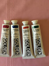 Lot of 4 Excellent Condition golden acrylic paint