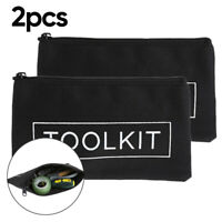 Electrician Zipper Storage Tool Bag Pouch Organize Small Parts Hand Tool Plumber