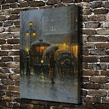 Walking in the rain Paintings HD Print on Canvas Home Decor Wall Art Pictures