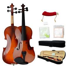 New 4/4 Maple Wood Acoustic Violin + Case + Bow + Rosin + Strings +Shoulder Rest