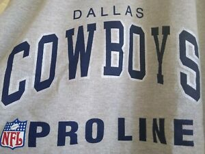 Vintage Dallas Cowboys NFL Heather Gray XL Sweatshirt Champion Pro Line NWT