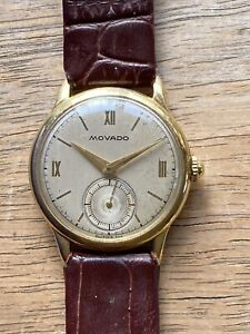Movado 115 Vintage 18K Gold Watch