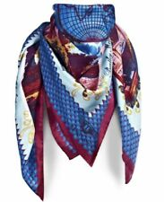 Multi-Coloured Square 100% Silk Scarves and Wraps for Women