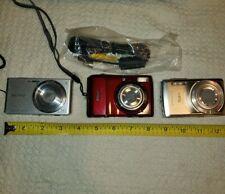 LOT(3) Nikon CoolPix L20 + Sony CyberShot DSC-W610 + Olympus Stylus-7030 Cameras