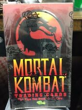 Mortal Kombat Classic Trading Cards Series 1 Factory Sealed Box Nice !