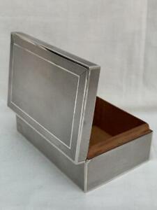 Superb Sterling Silver Stylish Art Deco Cigarette Box Birmingham 1936.