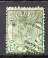 Australia Victoria State: Nice Used 1878 One Penny Green Yellow Scott 134-A22