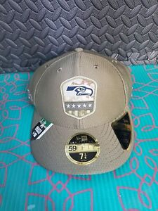 Seattle Seahawks NFL Hat 59 Fifty New Era Fitted Size 7 1/4 Cap Low Profile