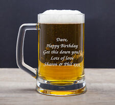 Personalised Pint Glass Tankard For 18th 21st 30th 50th 60th Birthday Gifts Idea