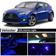 2011-2015 Veloster Blue Interior + License Plate LED Lights Package Kit
