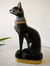 Katze Bastet Deko Figur Ägypten Katzengöttin Skulptur schwarz 23,5 cm Statue NEU