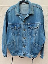 Vintage 90's Guess Georges Marciano Oversized Dolman Sleeves Denim Jacket Sz M