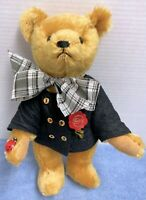 "HERMANN 12"" Gold Mohair Original Teddy Bear with Ladybug on his Paw"